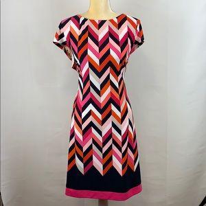 Dress Barn Signature Geometric Dress Short Sleeve